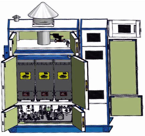 Образец энергоустановки на основе ТОТЭ мощностью 500 Вт