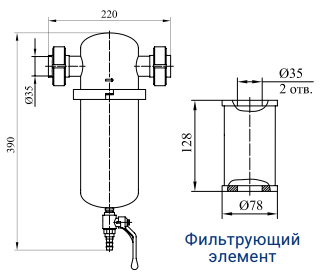 Фильтры для очистки газов от механических примесей с номинальным расходом 140