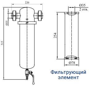 Фильтры для очистки газов от механических примесей с номинальным расходом 280