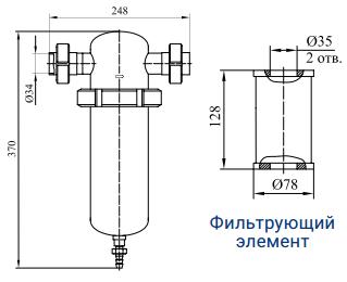Фильтры для очистки газов от механических примесей с номинальным расходом 400