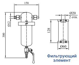 Фильтры для очистки газов от механических примесей с номинальным расходом 60