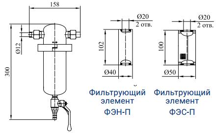 Фильтры для очистки пара от механических примесей с номинальным расходом пара 50