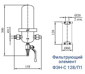 Фильтры для стерилизующей очистки газов с номинальной производительностью 60
