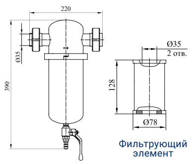 Фильтры предварительной, основной и тонкой очистки с номинальным расходом 140