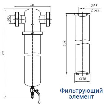 Фильтры предварительной, основной и тонкой очистки с номинальным расходом 560