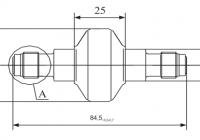 Фильтр МКФ-10 Подсоединительные размеры 1
