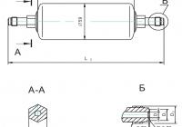 Фильтр МКФ-140 Подсоединительные размеры