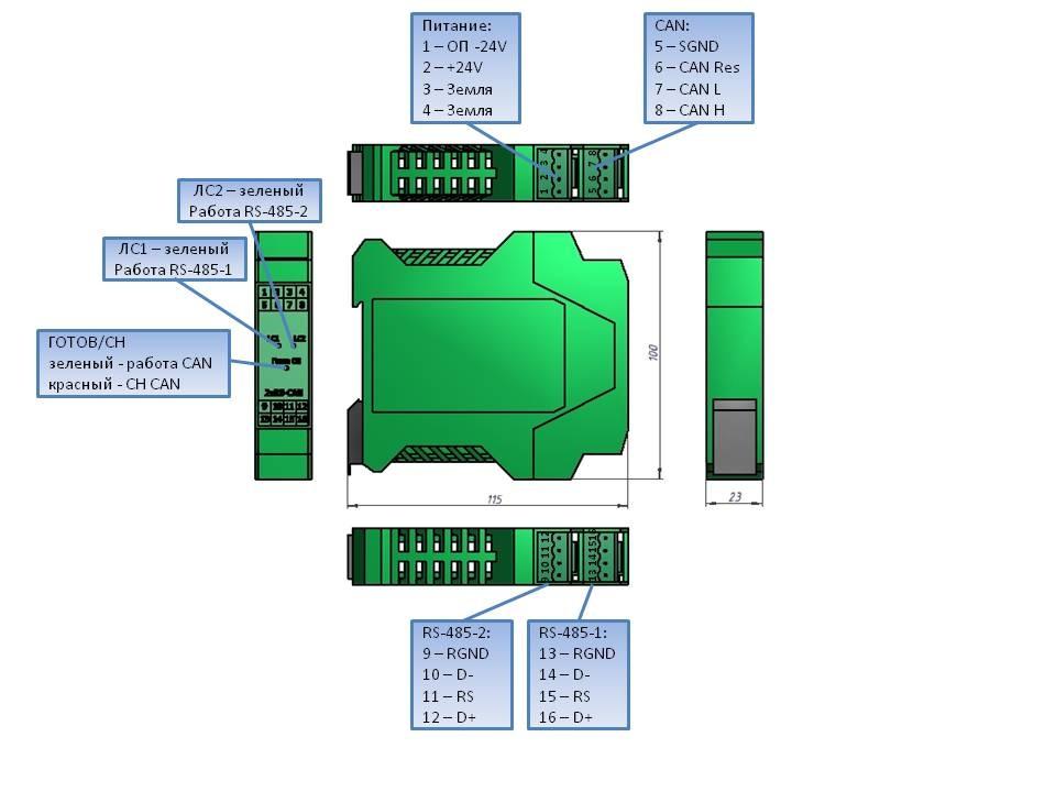 Модуль 2xRS-CAN